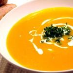 Готовый суп-пюре из тыквы
