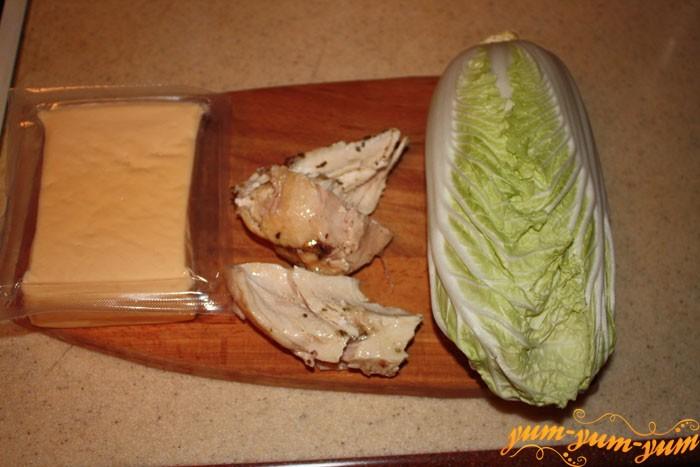 Ингредиенты для салата - Цезарь