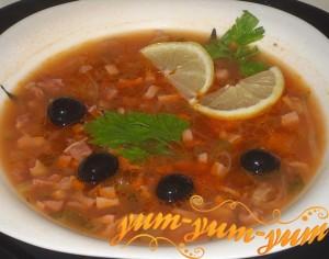Мясная суп солянка - Спасатель