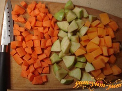 Нарезаем овощи кубиками