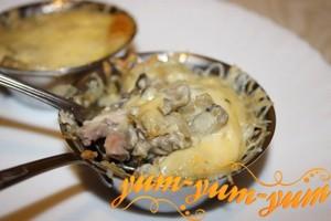 Рецепт приготовления жульена с грибами и курицей