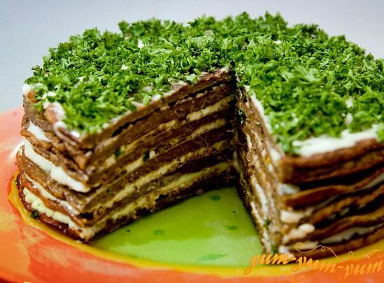 торт из говяжей печени рецепт