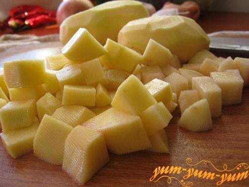 Режим картофель кубиками