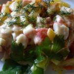 Рецепт запеканка из крабовых палочек с картофелем