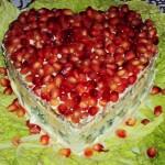 Салат на 14 февраля - рубиновое сердце