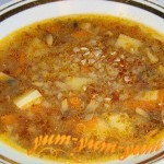 Суп гречневый с грибами и картофелем