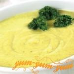 Суп-пюре из капусты брокколи и куриным филе