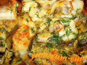 Филе судака запеченного с картофелем в фольге