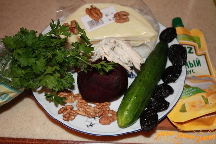 Все необходимые ингредиенты для салата