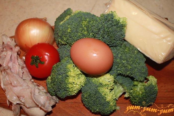 Ингредиенты для запеканки из брокколи и сыром