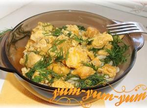 Жаркое с картофелем грибами и репой