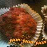 Кекс с мясом и грибами