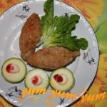 Люля кебаб из фарша и овощей
