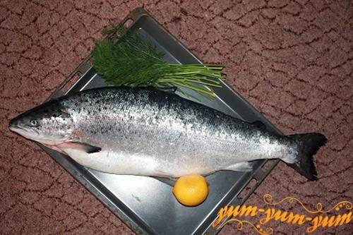 Подготавливаем тушу лососья