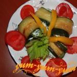 Рулеты из цукини с творогом рецепт с фото