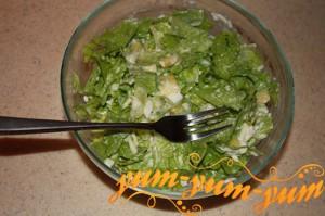 Салат с авокадо и грибами - Женская радость
