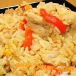 Тушеная курица с рисом и овощами рецепт с фото