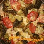 Запеканка из капусты брокколи и сыром