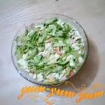 Салат с крабовых палочек и плавленного сыра рецепт с фото