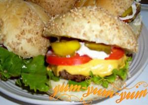 Сочные гамбургеры с говяжьим фаршем рецепт с фото