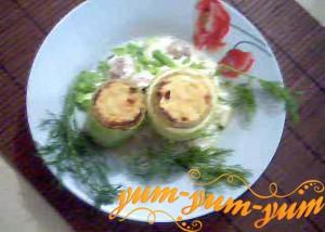 Кабачки фаршированные грибами рецепт с фото