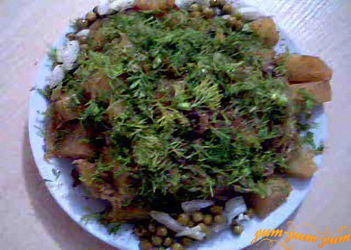 готовые овощи подаем к столу