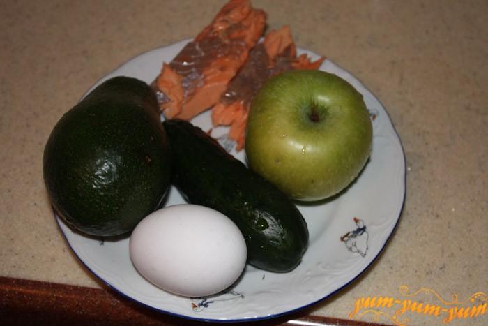 Ингредиенты для салата - Субмарина