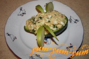 РЕцепт салата с семгой и авокадо - Субмарина