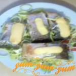 Фаршированная кусочками горбуша рецепт с фото