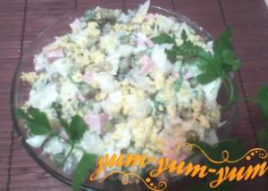 Оливье с капустой по-домашнему рецепт с фото