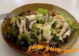 Салат цезарь с курицей и сыром рецепт с фото