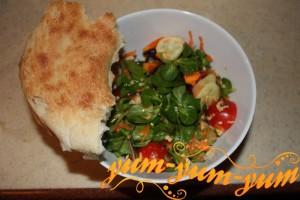 Рецепт салата из зелени - Бодрость