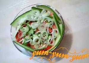 Салат из крабовых палочек и свежих огурцов рецепт с фото