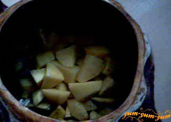 перекладываем овощи в горшочек