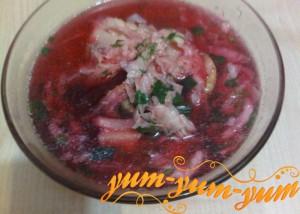 Борщ с китайской капустой рецепт с фото