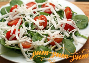 Салат с козьим сыром помидорами и огурцами рецепт с фото