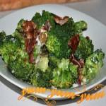 Салат с беконом и брокколи рецепт с фото