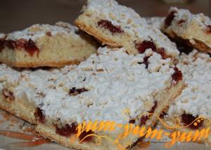 Тертый вишневый пирог рецепт с фото