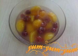 кисель из абрикосов из черешни готов