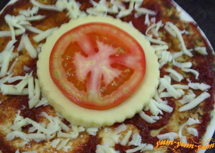 кружок сыра и томата для начинки