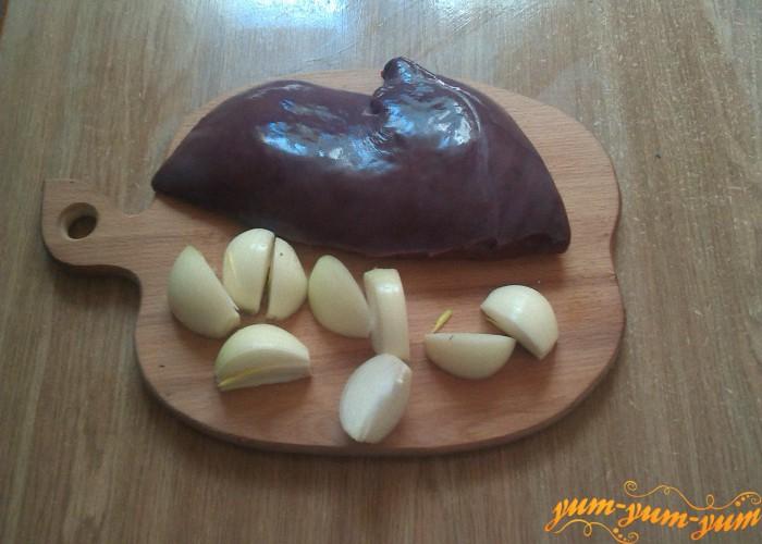 Печень и лук для оладьев