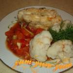 Запеченная пикша с овощами рецепт с фото