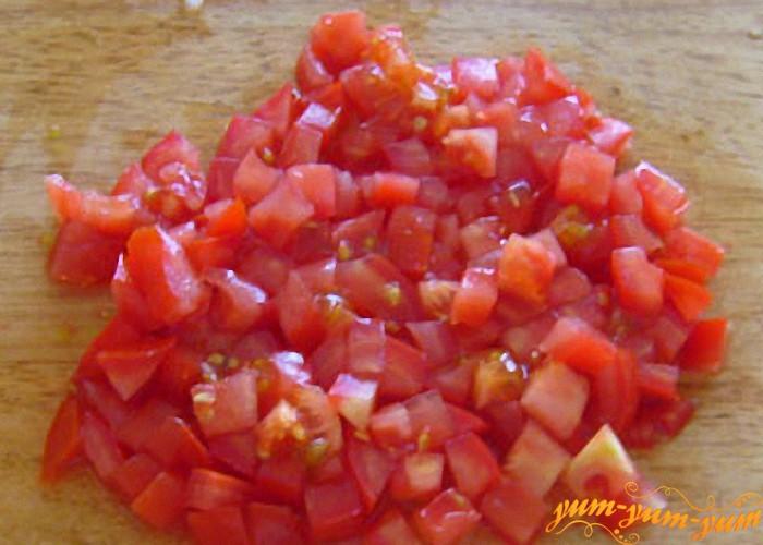 помидор нарезать для омлета
