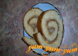 Лимонный рулет из сгущенки рецепт с фото