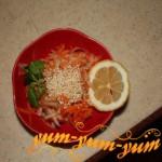 Салат из кольраби под названием Витаминный рецепт с фото
