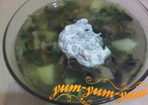 Суп из шампиньонов с картофелем рецепт с фото