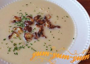 Суп с цветной капустой и пореем рецепт с фото