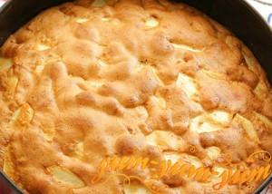 Пирог с яблоками шарлотка рецепт с фото