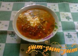 Зеленый борщ с томатом рецепт с фото