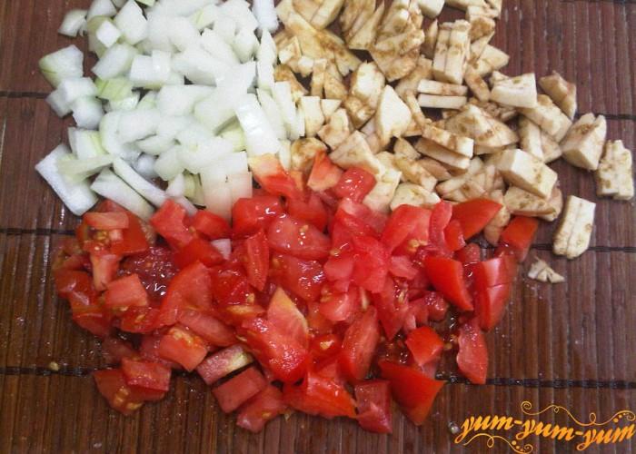 готовим начинку для баклажана